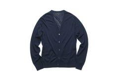 Escuro - casaco de lã azul Imagem de Stock