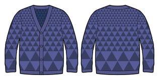 Escuro - casaco de lã feito malha azul Imagens de Stock Royalty Free