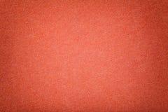 Escuro - close up matt alaranjado da tela da camur?a Textura de veludo do feltro foto de stock royalty free