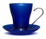 Escuro - copo azul fotos de stock royalty free