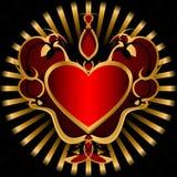 Escuro - coração vermelho. Fotografia de Stock Royalty Free