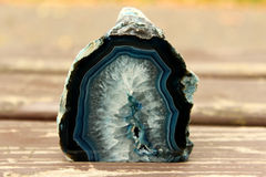 Escuro - corte mineral azul da pedra Fotografia de Stock Royalty Free