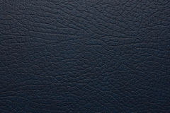 Escuro - couro artificial azul Imagem de Stock