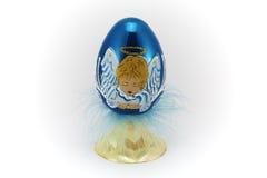 Escuro - Easter azul egg_1 fotografia de stock royalty free
