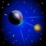 Escuro - espaço azul Imagem de Stock