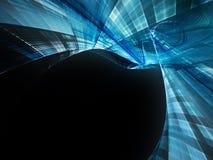 Escuro - fundo abstrato azul Fotografia de Stock Royalty Free