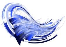 Escuro - fundo abstrato azul Imagens de Stock Royalty Free