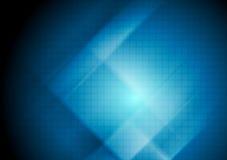 Escuro - fundo abstrato azul da tecnologia Imagens de Stock Royalty Free