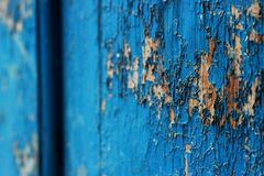 Escuro - fundo abstrato de madeira velho azul Fotos de Stock