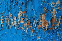 Escuro - fundo abstrato de madeira velho azul Imagem de Stock Royalty Free