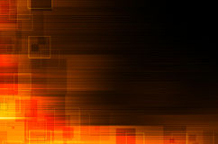Escuro - fundo abstrato técnico alaranjado Fotografia de Stock Royalty Free