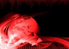 Escuro - fundo abstrato vermelho Fotos de Stock