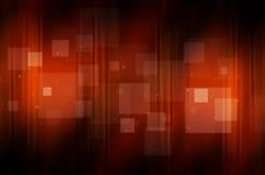 Escuro - fundo alaranjado com quadrado Fotografia de Stock Royalty Free