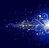 Escuro - fundo azul Imagens de Stock Royalty Free