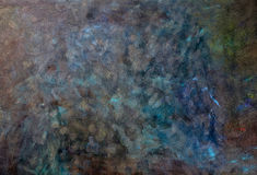 Escuro - fundo azul da cor de óleo Fotos de Stock