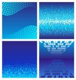Escuro - fundo azul da tecnologia Fotografia de Stock