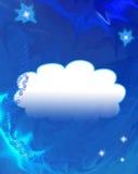 Escuro - fundo azul do espaço Imagem de Stock Royalty Free