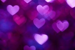Escuro - fundo azul do feriado da forma do coração Fotografia de Stock Royalty Free