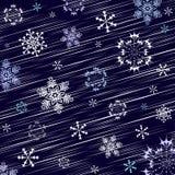 Escuro - fundo azul do inverno ilustração royalty free