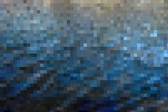 Escuro - fundo azul do sumário do mosaico Foto de Stock Royalty Free