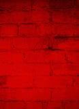 Escuro - fundo do Grunge do tijolo vermelho Imagens de Stock
