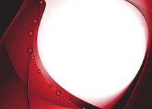 Escuro - fundo ondulado vermelho Foto de Stock Royalty Free