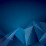 Escuro - fundo poligonal azul do vetor Fotos de Stock Royalty Free