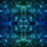 Escuro - fundo poligonal azul Ilustração abstrata colorida com inclinação O teste padrão textured pode ser usado para imagens de stock royalty free