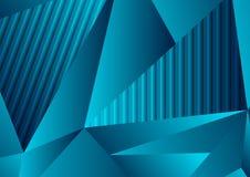 Escuro - fundo poligonal da tecnologia do conceito abstrato azul Fotografia de Stock