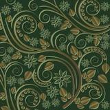 Escuro - fundo verde Imagens de Stock