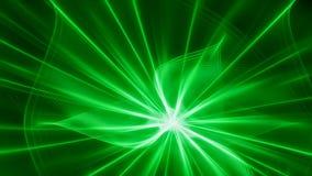 Escuro - fundo verde com flash brilhante Ilustração Royalty Free