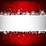 Escuro - fundo vermelho da malha da neve com textarea Fotos de Stock