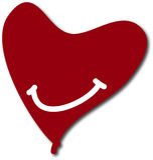 Escuro - fundo vermelho do sorriso do coração do Valentim jpg Fotografia de Stock