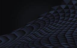 Escuro - geométricos abstratos azuis curvados dos triângulos vector o objeto horizontal de do elemento do volume reservado da som ilustração stock