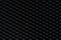 Escuro - grade cinzenta e de prata da cerca do metal que tomando como o fundo fotos de stock royalty free