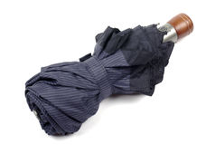 Escuro - guarda-chuva azul. Fotos de Stock