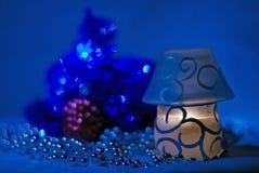 Escuro - noite azul imagem de stock