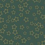 Escuro - o fundo Textured azul com ouro Stars Fotos de Stock