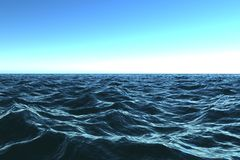 Escuro - oceano azul com beautifu Fotografia de Stock Royalty Free