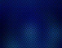 Escuro - papel de parede geométrico do fundo do borrão azul Imagens de Stock