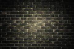 Escuro - parede de tijolo cinzenta como a textura ou o fundo Fotos de Stock Royalty Free
