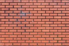 Escuro - parede de tijolo vermelho Fotos de Stock