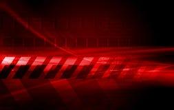 Escuro - projeto vermelho do vetor da olá!-tecnologia Fotografia de Stock Royalty Free