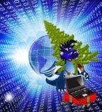 Escuro - símbolo do A. do ano dragão-Novo azul. de 2012 Foto de Stock Royalty Free