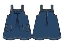 Escuro - sundress azuis da sarja de Nimes Imagens de Stock Royalty Free