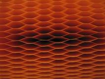 Escuro - teste padrão alaranjado do favo de mel Imagens de Stock Royalty Free
