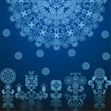 Escuro - teste padrão azul Imagens de Stock