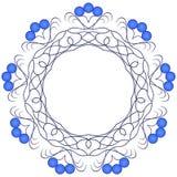 Escuro - teste padrão azul em um fundo branco. Fotos de Stock