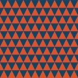 Escuro - teste padrão sem emenda do vetor dos triângulos azuis e alaranjados Textura geométrica abstrata simples do fundo ilustração stock