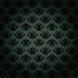 Escuro - teste padrão verde Fotografia de Stock Royalty Free